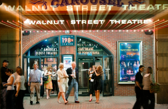 Founded in 1809, the Walnut Street Theatre is America's oldest theater, but its line-up is decidedly modern, offering professional comedy, drama and musical productions. Photo by G. Widman for GPTMC