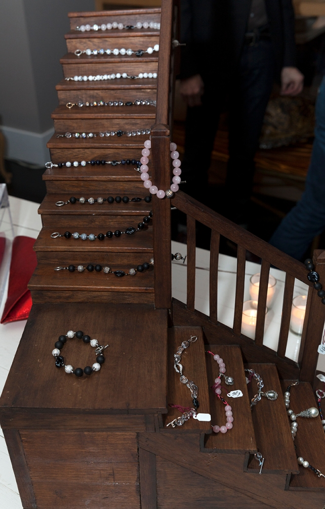 NEW YORK - NOVEMBER 19: JacobZNYC collection of jewelry by Jacob Zarbailov on display during presentation at Todd Home in West Village on November 19, 2013 in New York City
