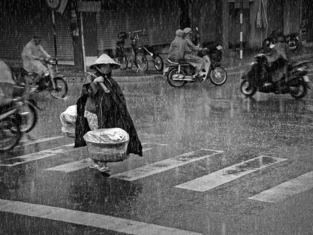 """Rainy Afternoon"" by Truong Minh Dine, Vietnam. Grand Prize. A woman transports potatoes to a local market. Her earnings help feed two children and her husband."