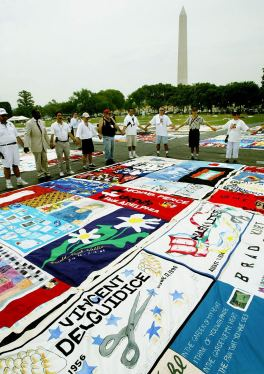 AIDS Memorial Quilt Displayed In Washington