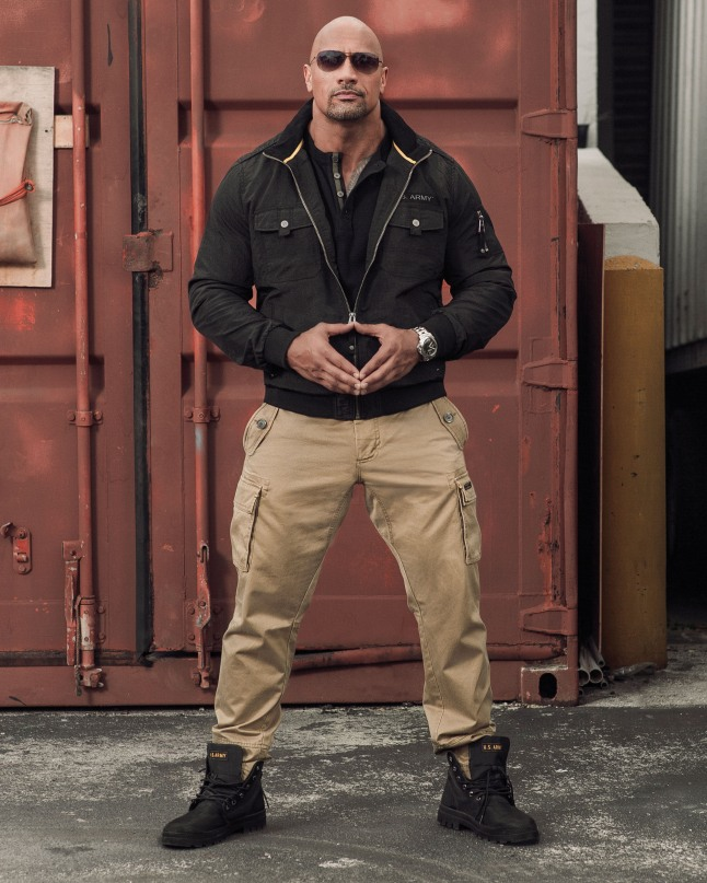 "Authentic Apparel Group launches apparel line with Dwayne ""The Rock"" Johnson. The army style clothing is officially licensed by the U.S. Army.  Tracy Paul & Company, Inc. represents the initiative.  (PRNewsFoto/Authentic Apparel Group)"
