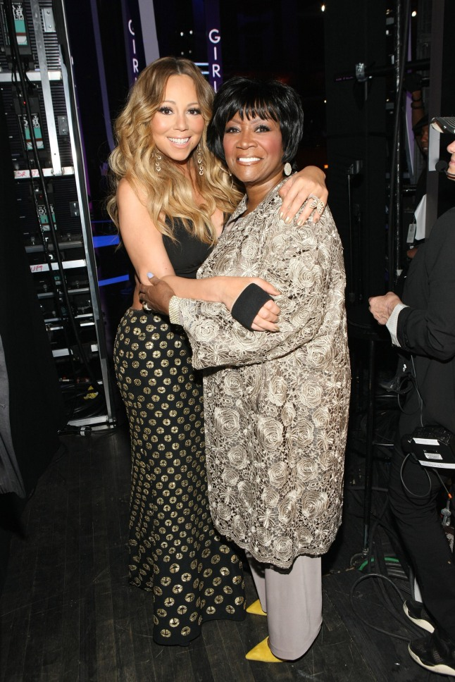 Patti LaBelle and Mariah Carey backstage at Black Girls Rock! Premieres Sunday, Nov. 3 at 7pm on BET.  (PRNewsFoto/BET Networks)