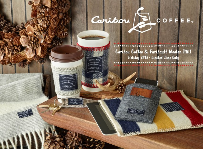This holiday season, Caribou Coffee will be partnering for the first-time-ever with the iconic Faribault Woolen Mill Co. to provide fans with a luxurious co-branded holiday collection. This wide variety of high-quality merchandise will bring the warmth of Caribou's coffeehouses and the rich history of these two beloved brands to the homes of its fans across the country. In addition to these one-of-a-kind items, Caribou Coffee will also be offering limited-time-only holiday beverages such as the Spicy Mocha, an array of gift sets, ornaments, seasonal treats, drinkware and more to celebrate the holidays this year. (PRNewsFoto/Caribou Coffee)