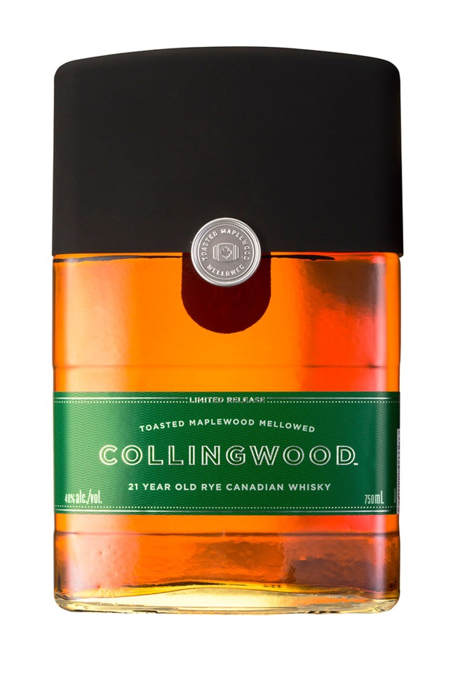 Collingwood Whisky releases its limited edition 21-Year-Old Rye in select United States and Canada markets.  (PRNewsFoto/Collingwood)