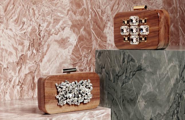 Devi Kroell Wooden Clutch.  (PRNewsFoto/Devi Kroell s.r.l.)