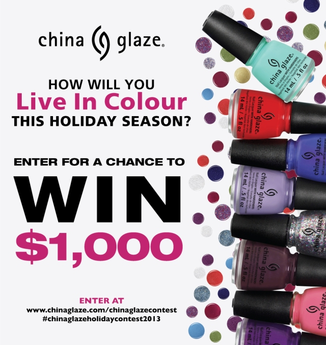 Enter China Glaze Holiday Nail Design Contest for your chance to win $1,000!