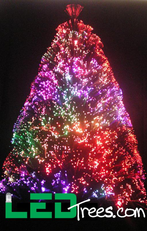 led christmas tree going green with led fiber optic trees www fashion 10593
