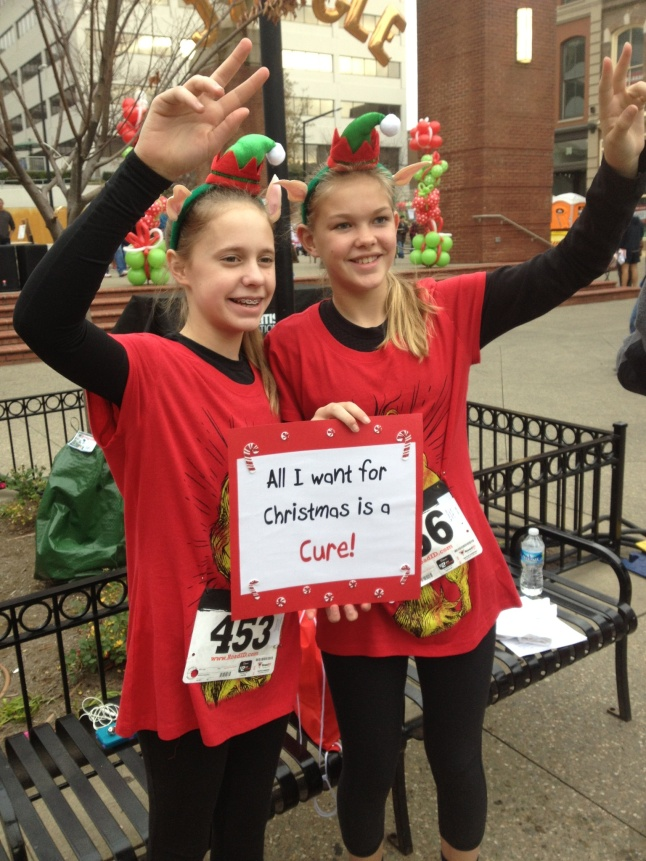 Jingle Bell Run-Walk participants - All I want for Christmas is a Cure!