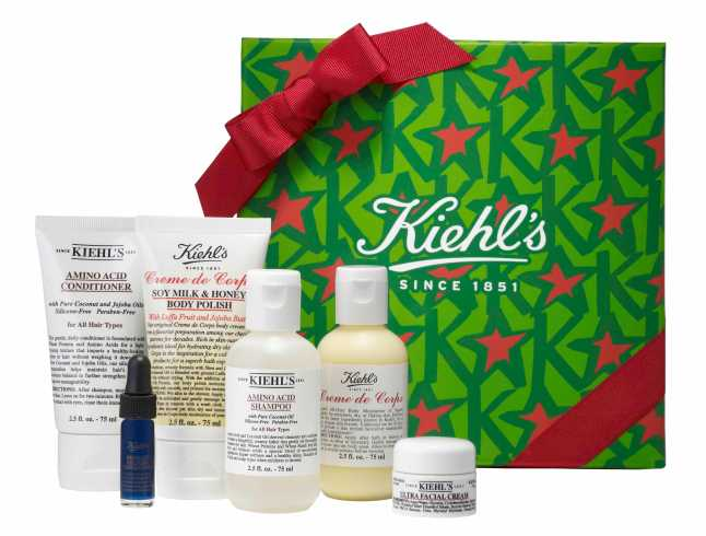 Kiehl's Since 1851 'Greatest Hits' collection, includes Amino Acid Shampoo (2.5 oz.), Amino Acid Conditioner (2.5 oz.), Creme de Corps Body Moisturizer (2.5 oz.), Creme de Corps Soy Milk & Honey Body Polish (2.5 oz.), Ultimate Strength Hand Salve (2.5 oz.), Ultra Facial Cream (0.25 oz.) and Midnight Recovery Concentrate (0.14 oz.), $45 (a $61 value). In Cosmetics at Nordstrom and nordstrom.com.