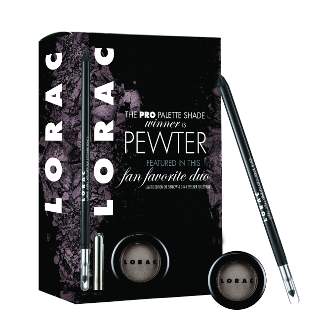 LORAC PRO Palette shade Pewter was voted by fans as their most loved eyeshadow.