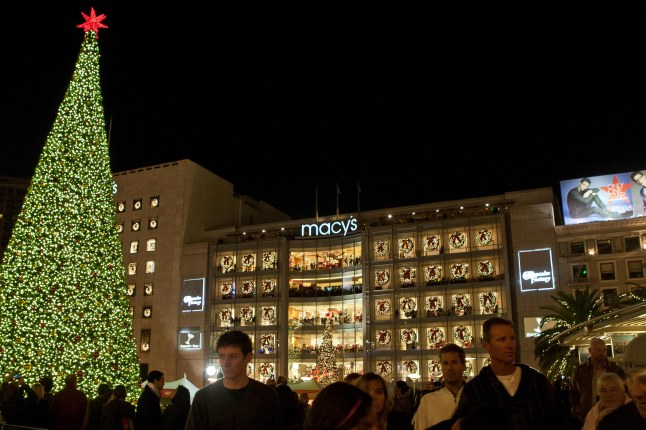 Macy's Annual Great Tree Lighting in Union Square Friday, Nov. 29 at 6 p.m.