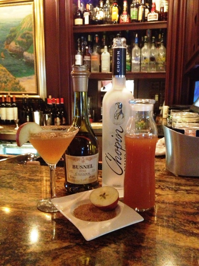 Mirbeau's Apple Cider Martini
