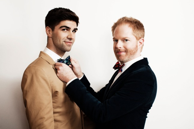 Modern Family's Jesse Tyler Ferguson and Husband Justin Mikita of Tie The Knot Pop Up, Beverly Center.  (PRNewsFoto/Beverly Center)
