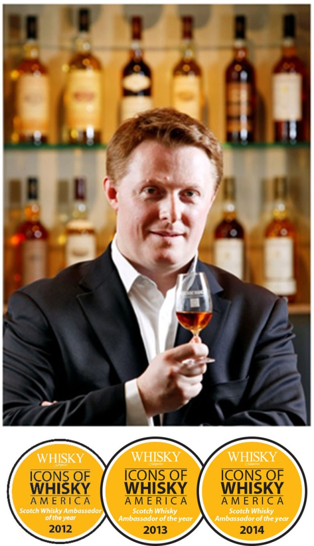 Glenmorangie Global Master Brand Ambassador David Blackmore Named 2014 Scotch Whisky Ambassador of the Year for Third Consecutive Year. (PRNewsFoto/Glenmorangie)