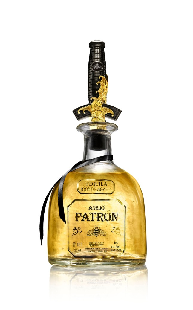 Patron Anejo featuring the limited edition David Yurman bottle stopper.  (PRNewsFoto/Patron Spirits)