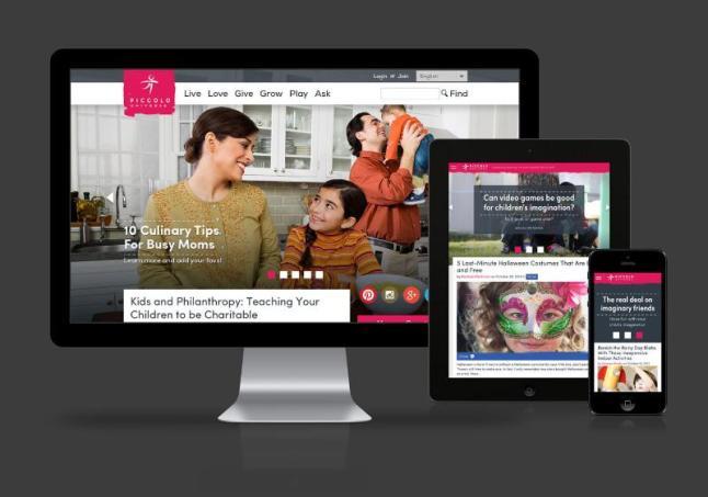 Piccolo Universe launches new website for parents and caregivers.  (PRNewsFoto/Piccolo Artist, LLC)
