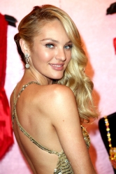 NOVEMBER 06:  Candice Swanepoel attends the Victoria's Secret Reveals 2013 The Royal Fantasy Bra - Fan Event on on November 6, 2013 in New York City.  (Photo by Monica Schipper/Getty Images for Victoria's Secret)