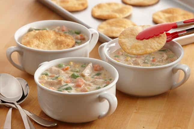 Sage and Turkey Pot Pie Soup
