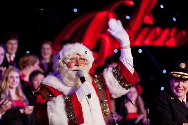 Santa Claus will visit Macy's 24th Annual Great Tree Lighting in Union Square on Friday, Nov. 29 at 6 p.m.