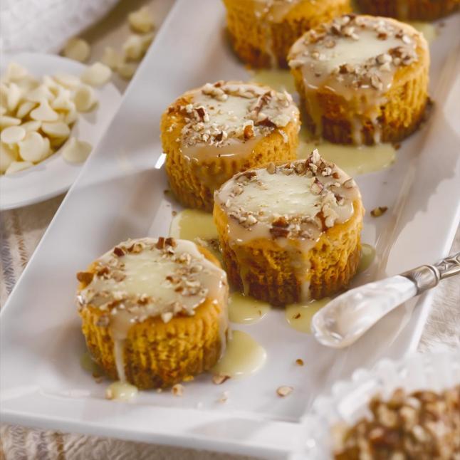 White Chocolate Pumpkin Pecan Babycakes