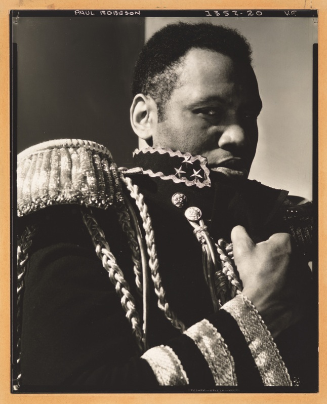 Edward Steichen, Paul Robeson (as Brutus Jones in The Emperor Jones, for Vanity Fair), 1933. Gelatin silver print, mounted on board, 9 15/16 × 8in. (25.2 × 20.3 cm). Whitney Museum of American Art; gift of Richard and Jackie Hollander in memory of Ellyn Hollander  2012.240