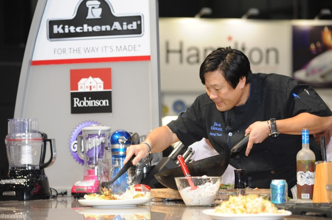 Chef Ming Tsai shares cooking tips at the Show's popular Cooking Theater at 2013 International Home + Housewares Show
