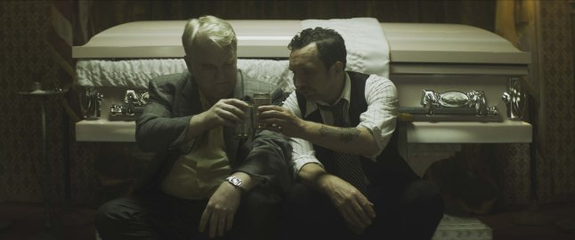 God's Pocket - Philip Seymour Hoffman and Eddie Marsan (Photo credit: Lance Acord)