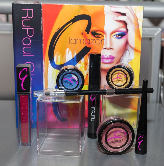 NEW YORK - DECEMBER 17: Cosmetics on display at reveal of RuPaul cosmetics line & themed window at Ricky's NYC on December 17, 2013 in New York City.