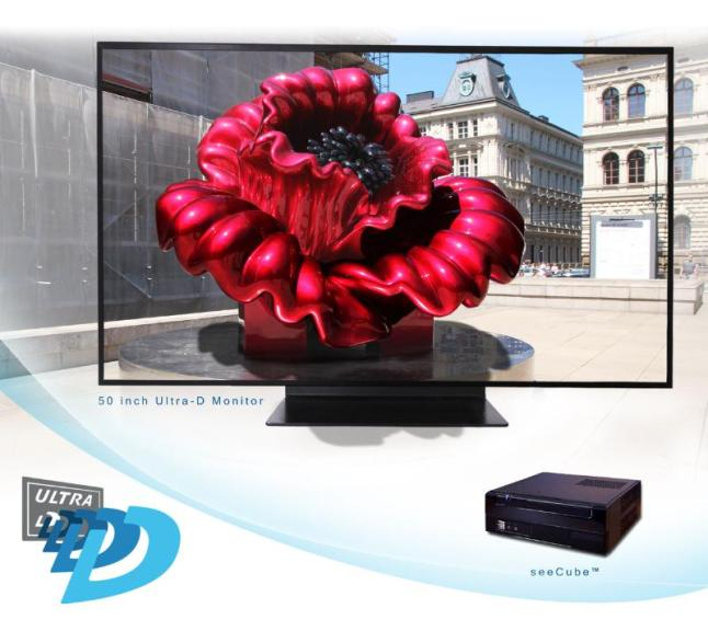 Ultra-D displays have real-time conversion technology that converts 2D or 3D source content into 4K glasses-free 3D.  (PRNewsFoto/Stream TV Networks, Inc.)