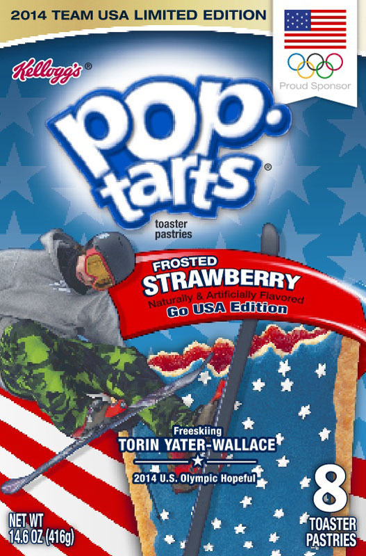 Freeskier Torin Yater-Wallace, U.S. Olympic hopeful and member of Team Kellogg's(TM), will be featured on boxes of Kellogg's(R) Pop-Tarts(R) beginning in December.  (PRNewsFoto/Kellogg Company)