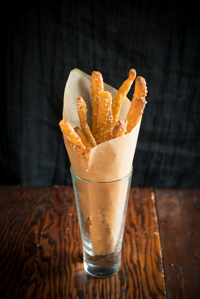 Sesame-Quinoa Cheese Straws