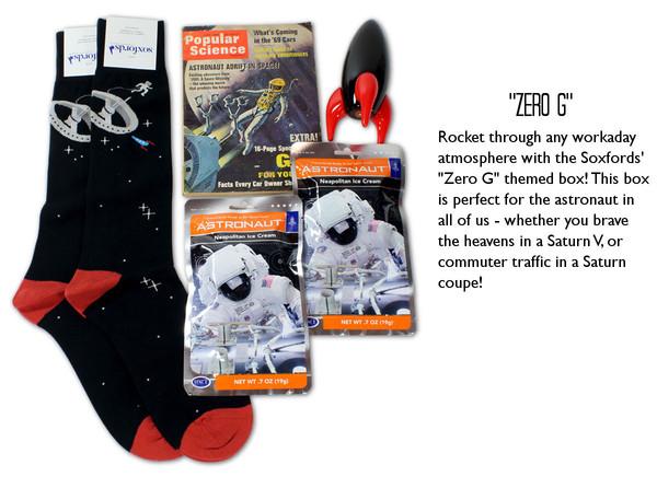 Soxfords - Kessler Syndome Astonaut-Themed Dress Socks Gift Box