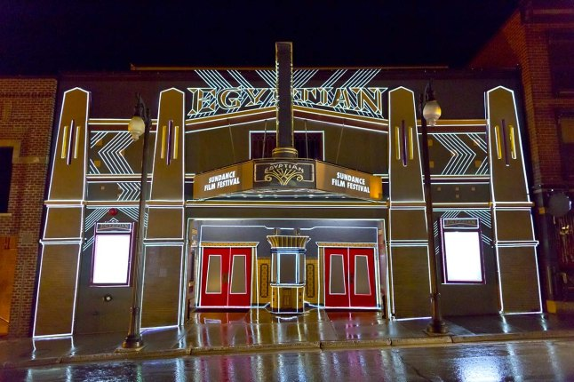 "KLIP COLLECTIVE EXTERIOR PROJECTIONS ON EGYPTIAN THEATRE - ""What's He Projecting In There,""  (Photo Credit: Pier Nicola D'Amico)"
