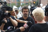 Joe Berlinger interviews Pat Donahue, wife of murder victim Michael Donahue.