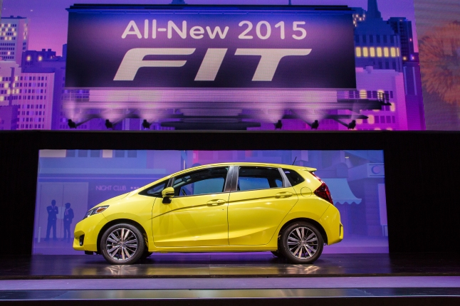 2015 Honda Fit introduction at the 2014 North American International Auto Show in Detroit on January 13, 2014.