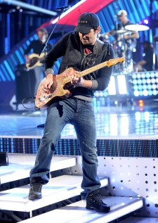 People's Choice Awards Rehearsals - Brad Paisley at Nokia Theatre L.A. Live on January 7, 2014 in Los Angeles, California.