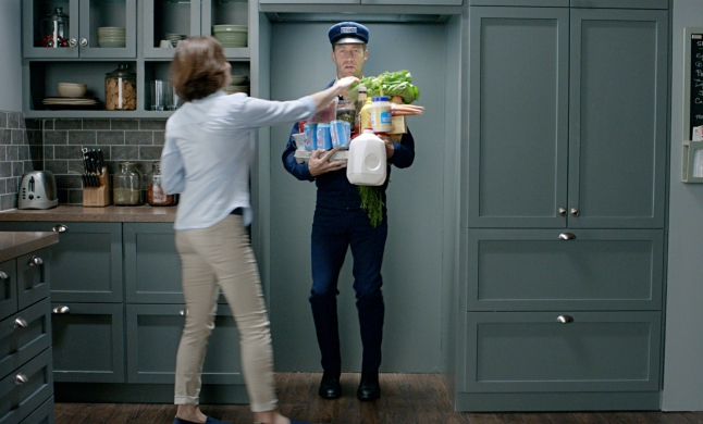 Maytag Man debuts in his brand new role – as the machine. As a Maytag refrigerator, he serves as the human embodiment of the reliability, durability, and power found inside Maytag appliances.