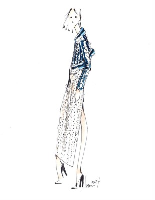 Brandon Sun crystal sketch for the Autumn/Winter 2014 Swarovski Collective.  (PRNewsFoto/Swarovski)