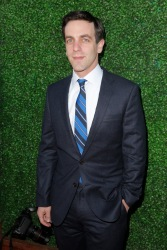B.J. Novak arrives at the 19th annual Critics' Choice Movie Awards presented by Porsche at The Barker Hangar in Santa Monica on Thursday, Jan. 16, 2014. (Photo by Todd Williamson/Invision for Porsche/AP Images)