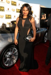Nia Long arrives at the 19th annual Critics' Choice Movie Awards presented by Porsche at The Barker Hangar in Santa Monica on Thursday, Jan. 16, 2014. (Photo by Todd Williamson/Invision for Porsche/AP Images)
