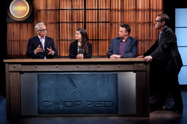 Geoffrey Zakarian, Alex Guarnaschelli, Marc Murphy and Ted Allen on Chopped Tournament of Stars
