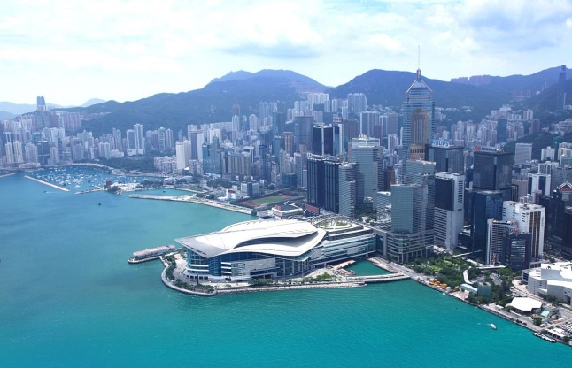 The Hong Kong Convention and Exhibition Centre (HKCEC).