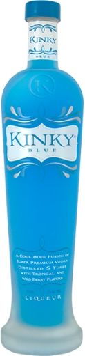 KINKY® Blue - a fusion of super premium vodka and tropical and wild berry flavors
