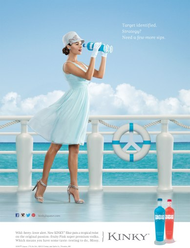 KINKY® Blue National Print Ad