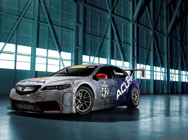 2015 Acura TLX GT Race Car debuts at North American International Auto Show 1-14.  (PRNewsFoto/Acura)