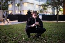 Art Basel in Miami Beach 2013 | Public Opening Night | Mungo Thomson | Crickets Solo for Clarinet; Violin; Flute; Percussion, 2013