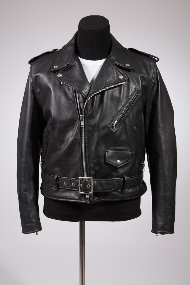 Schott, Perfecto jacket, black leather, circa 1980, USA. Museum purchase, P89.29.1.