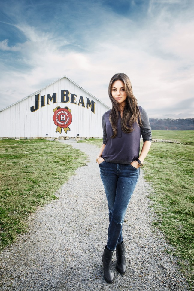 Jim Beam(R) Partners with Mila Kunis.  (PRNewsFoto/Beam Inc.)