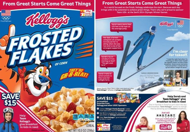 Kellogg's Frosted Flakes Celebrates Father/Daughter Bond Through Partnership with U.S. Olympic Hopeful Ski Jumper Sarah Hendrickson.  (PRNewsFoto/Kellogg Company)