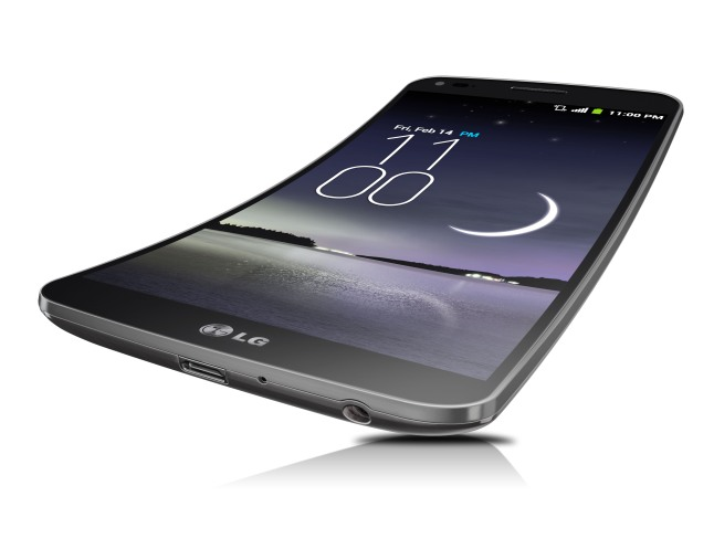 LG G Flex is the World's First Curved Flexible Smartphone Coming to the US Soon.  (PRNewsFoto/LG Electronics USA)